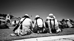 Cholitas I (Boslok) Tags: bolivia isla sol chola cholitas back sitting trio blackwhite blackandwhite highcontrast sunny boslok travel travelphotography triptravel ontheroad contrast titikaka island meeting southamerica sudamerica altiplano smartography smartphone s6 s6edge samsung