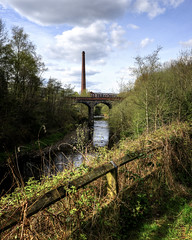 The River Tame (JEFF CARR IMAGES) Tags: northwestengland rivers viaduct milltowns ashtonunderlyne springtime