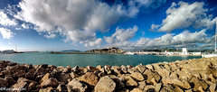 Vila d'Eivissa - Panoràmica (rossendgricasas) Tags: sky landscape sea beach blue clouds nikon photo panoramic photography lightroom mare ibiza eivissa balears