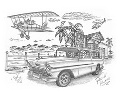 Pooch Plane (rod1691) Tags: bw scifi sketch alien greys concept custom car retro space hotrod drawing pencil h2 original story fantasy funny automotive art illistration greyscale moonpie glendale