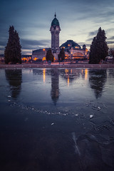 Matin glacé (billbaroud87) Tags: limoges gare glace froid reflection