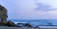 Peaceful Purple (thel00k) Tags: california zen beach ocean sunset peaceful purple littlestopper surf lagunabeach sonya7ii longexposure leefilters rocks
