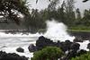 spray shoots onto the shore (x376) Tags: mauihawaii roadtohana