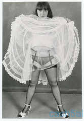 Vintage Lingerie Black and White (Sugarbarre2) Tags: woman wife mom granny upskirt flash old mature dark sheer high heels collectible ruffles sissy lace light cool hot eyes nostalgia fun art toes sandals bwwoman