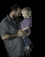 90246936947-87-Father and Son-1 (Jim There's things half in shadow and in light) Tags: 2017 america april canon5dmarkiv family lindsey people places tamronsp85mmf18divcusd usa flash portrait man son father dad daddy kid boy