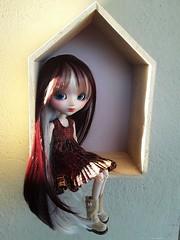 New wig (Lunalila1) Tags: doll groove pullip custom custo akai handmade outfit costura dress pared leeke wig corte pelu