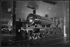 Barrow Hill Roundhouse. March 2017 1 (MTB1975) Tags: timelineevents tle barrowhillroundhouse barrow hill roundhouse train uk derbyshire chesterfield turntable historic black white sony sonya77 a77