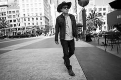 man in a cowboy hat, Union Square (vhines200) Tags: sanfrancisco 2017 unionsquare man cowboyhat