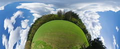 My Globe II [explored] (Jeffrey Camphens) Tags: globe landscape unique clouds bright happy creative blue green panorama nikon d3300 wide angle wwwfacebookcom explore