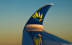 😍 (Maxime C-M ✈) Tags: sunset sun evening winglet french fly atlantic ocean avion travel world passenger international aviation passion airplane wing aircraft martinique france