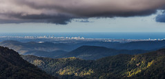 众山小 gold coast seen from hinterland (nzfisher) Tags: goldcoast hinterland mountain sky clouds stormy sea landscape springbrook springbrooknationalpark queensland australia 85mm canon canyon canyonlookout lookout