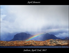 (McRusty) Tags: suilven loch sionascaig eilean mor april shower showers assynt north west scotland highland mountain rain clouds downpour sunshine rainbow beautiful natural outdoor wild wilderness