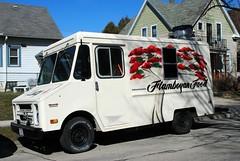 Flamboyan Food, Milwaukee (Cragin Spring) Tags: midwest unitedstates usa unitedstatesofamerica wisconsin wi deliverytruck truck stepvan milwaukee milwaukeewi milwaukeewisconsin flamboyanfood gmc foodtruck