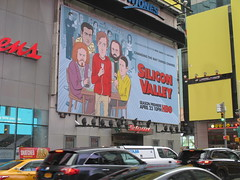 Silicon Valley HBO Show Billboard Times Square NYC 4644 (Brechtbug) Tags: silicon valley hbo show bus billboard springtime new york 2017 april 04202017 taxi cab sunny 42nd street 7th ave number one times square nyc pedestrians avenue st commuting shows billboards graphic novel artist daniel clowes illustration looks great art technology fueling station electricity power cartoon caricature cartoons