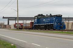 Along The Street (Joseph Bishop) Tags: gmtx 223 emd mp15 trilliumrailway stcatharines ontario trry railfan railroad railway rail rails trains train track tracks