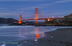 Golden Gate Sunset (Simon__X) Tags: sanfrancisco california unitedstates long exposure ocean golden gate bridge