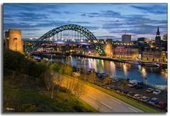Newcastle/Gateshead Quayside at Dusk... (stblackburn) Tags: newcastle night northeast nighttime gateshead geordies tynequayside tyne toon bridge dusk uk sunset