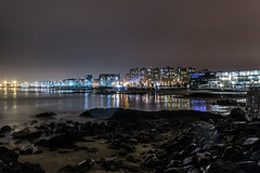 Matosinhos (Bless your life) Tags: porto portugal matosinhos ocean city night light architecture street building
