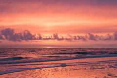 Zonsondergang (judithvanagthoven) Tags: zeeland zee natuur nederland canon 7dmarkii zonsondergang kleuren oranje rood avond nature wolken