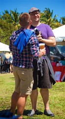Guy with rainbow ribbon (LarryJay99 ) Tags: dude sky hotdude rainbow dudes guys people mustache gayman florida smile redhear hunks facialhair peekingpits tattoos rainbowribbon man tatts goatee peekingnipples virile ilobsteritflickr faces hairyarms nipples flickrmen men hairychest lakeworth hairy handsome male hands bokeh verily guy hotman beard flickr canonefs18135mmf3556is