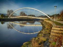 Pasarela peatonal (juantiagues) Tags: pasarela puente río lérez juantiagues juanmejuto
