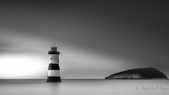 Lighthouse (Andy Poole Images) Tags: mono lighthouse penmonpointlighthouseanglesey
