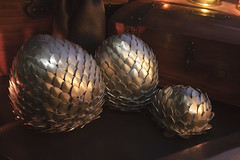 Dragon Eggs 10 (icantcu) Tags: lightpainting light painting lowlight low dark gothic medieval dragon egg scale theringlord knitting crafts diy hobby