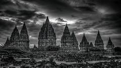 Prambanan - Java - Indonesia (André Schönherr) Tags: 40d visionhunter indonesia indonesien prambanan tempel hindu monochrom blackwhite