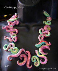 Oh Happy Day (caprilicious jewellery) Tags: rainbow skinnerblend squigglebeads