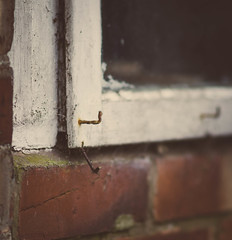 85mm f1.4 + preset (aecclesphoto) Tags: field vintage rust decay 14 nail shallow vignetting depth brickwork nikond7000 samyang85mm14