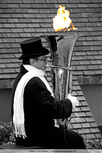 Your tuba is on fire!