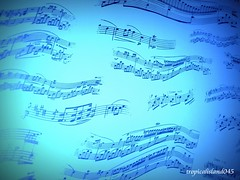 Summer's Melody (tropicalisland045) Tags: blue music piano melody score    musicsheet