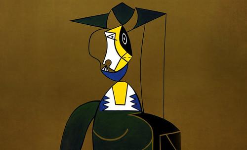 "Mujer en Gris, caracterización de Pablo Picasso (1942), recreación de Roy Lichtenstein (1962). • <a style=""font-size:0.8em;"" href=""http://www.flickr.com/photos/30735181@N00/8815852472/"" target=""_blank"">View on Flickr</a>"