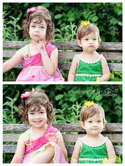 21/52 On shooting in continous shutter release mode... (Barbara Taeger Photography) Tags: girls portrait silly color goofy sisters children 50mm nikon diptych funny expressions barbara change taeger pianogram m4h52wp