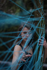 No strings attached (Hilde Isachsen) Tags: blue me girl dark string strings