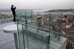 Rooftop - Istanbul (Roy Del Vecchio) Tags: city man rooftop turkey photo view istanbul bosporus mikla