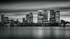 Canary Wharf Skyline mono (vulture labs) Tags: city uk longexposure nightphotography blue england urban blackandwhite bw white black reflection building art monochrome thames skyline architecture night clouds skyscraper silver buildings river photography mono photo nikon long exposure cityscape skyscrapers capital monotone monochromatic crop wharf toned canarywharf 169 riverthames cityoflondon ratio lightroom londonskyline onecanadasquare bwfilter neutraldensityfilter bwlondon nd110 d700 nd106 vulturelabs