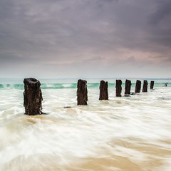 Stumps (Martin Mattocks (mjm383)) Tags: sky seascape water clouds canon pier wooden cornwall surf waves horizon stives stumps cornwalllandscapes mjm383 martinmattocksphotography