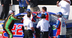 Auto Club Speedway Fight (cjacobs53) Tags: auto california cup car club race 22 joey 14 tony number stewart nascar series jacobs sprint fontana speedway logano jacobsusa 2013picture