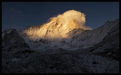 sunset on makalu (8481m) (doug k of sky) Tags: nepal sunset camp trek japanese doug glacier himalaya base makalu barun mountainscapes mountainsnaps kofsky