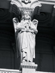 Column Statue (K.G.Hawes) Tags: blackandwhite white black france building church statue architecture angel buildings de french religious wings cathedral lyon basilica religion columns wing creative statues commons christian notredame cc angels creativecommons column christianity notre dame winged angelic église eglise lyons basilique fourviere fourvière notredamedefourviere