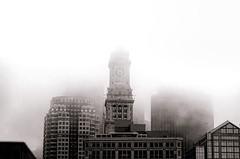 Custom House Tower (Matthias Harbers) Tags: city sky blackandwhite bw usa house tower boston fog skyscraper photoshop hotel town raw nebel massachusetts sony himmel financialdistrict labs dxo hdr topaz 3xp photomatix mckinleysquare rx100 marriottscustomhousehotel cusomhousetower