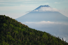 富士山 & 甲武信ヶ岳 (deletio) Tags: blue mountains green nature japan clouds forest 富士山 mtfuji yamanashi 2013 yamanashiprefecture d700 afnikkor300mmf4ed 甲武信ヶ岳 mtkobushigatake