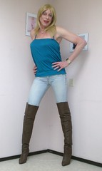 Jeans and boots. (sabine57) Tags: drag tv highheels boots cd crossdressing tgirl transgender jeans tranny transvestite crossdresser crossdress stiefel transvestism