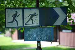 Unusual Sign (Mabry Campbell) Tags: sports sign sport june metal göteborg photography photo europe photographer skiing image sweden gothenburg running 100mm photograph 100 scandinavia f28 goteborg västragötaland 2013 ¹⁄₂₀₀sec eos5dmarkiii ef100mmf28lmacroisusm mabrycampbell june82013 201306080h6a3379