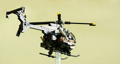 Hughes MH-6 Little Bird (pitrek02) Tags: usa black bird lego little hawk navy poland down helicopter battlefield heli littlebird lugpol