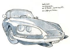 DS Pallas (gerard michel) Tags: auto sketch ds croquis citroên