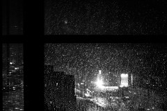 Drop Stars (.Feng.) Tags: light bw glass night drop shenzhen lx5