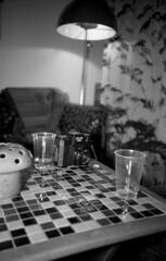 gallery showing at studio skatan (jojonas~) Tags: bw film mushroom table relax iso100 cozy holga lomo lca flash apx100 135 agfa apx minitar markusandersson studioskatan dianaflashdiffused