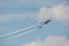 Southport Airshow 2013 - Red Arrows (Redoux) Tags: blue red sky cloud white nikon smoke airshow arrows southport redarrows raf 2013 d7100 southportairshow vr28300
